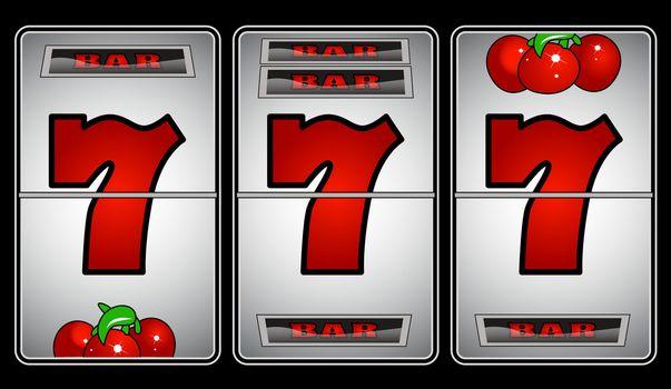 Slot Machine with Seven