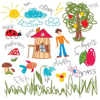 child draw elements