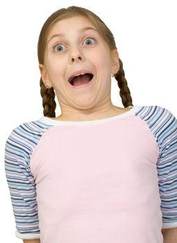 Fright teenager girl