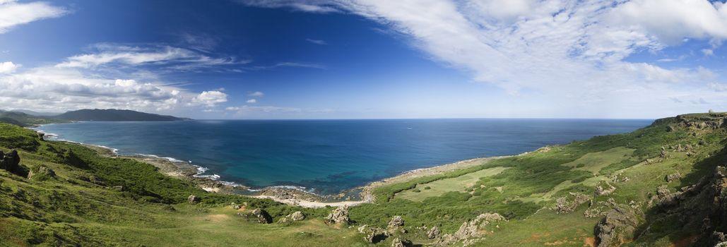panoramic coastline