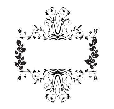 royal floral frame