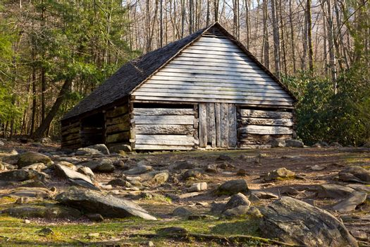 Old barn in Smoky Mountains