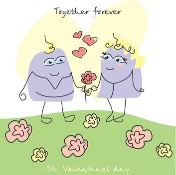 cute valentine`s day card