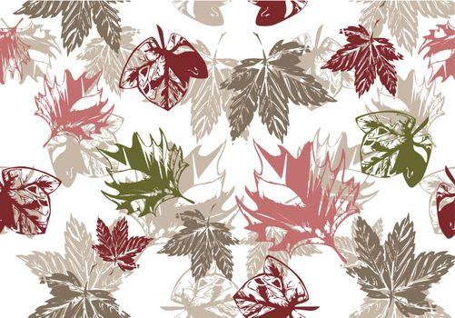 seamless grunge autumn background