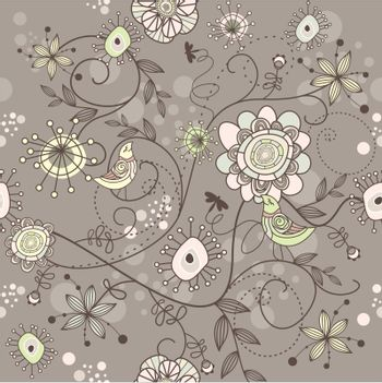 seamless vector floral background
