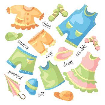 set of baby clothing