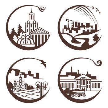 city graphic illustration