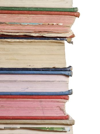 stack of books close up