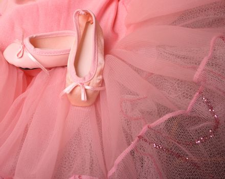 Pink Ballet costume and miniature shoes with bows