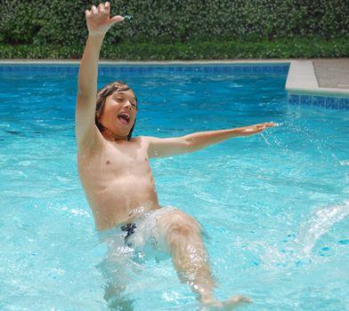 Summer Fun in Swimming Pool