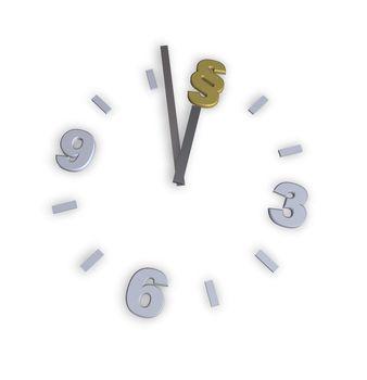 clock with paragraph symbol - 3d illustration