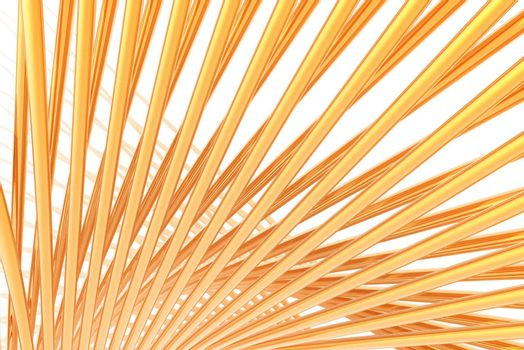 yellow bars on white background - 3d illustration