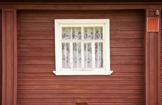 One window of rural house
