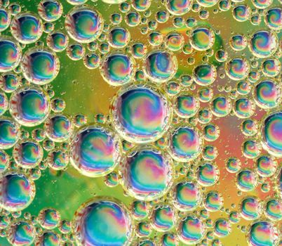 Psychedelic Oil and Water Bubbles