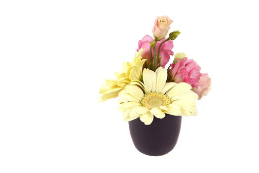 Small bouquet in a pot
