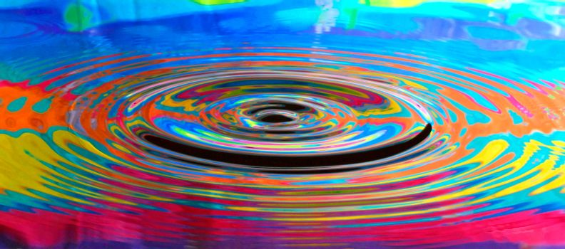 Abstract Psychedelic Water Ripples