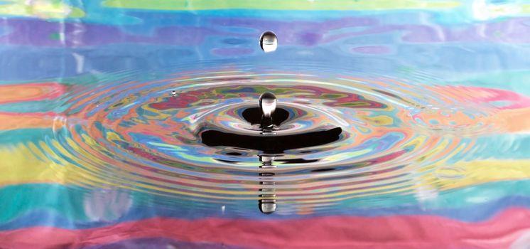 Psychedelic Drop in Serene Water