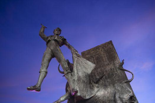Monument in Plaza de Torros, Madrid