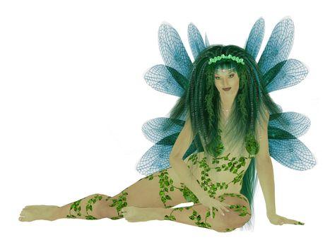 Translucent Blue Green Fairy
