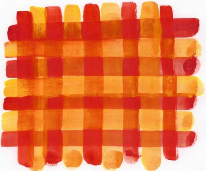 hand brushed karo background in red and yellow