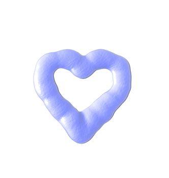 liquid heart on white background - 3d illustration