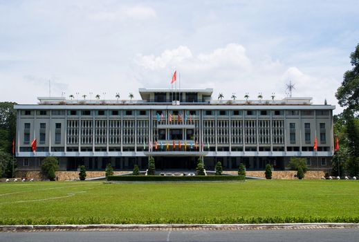 The Reuinification Palace in Ho Chi Minh City