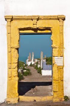 Muslim cemetery entrance