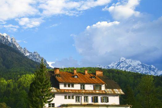 Rural hotel in Slovenian Alps