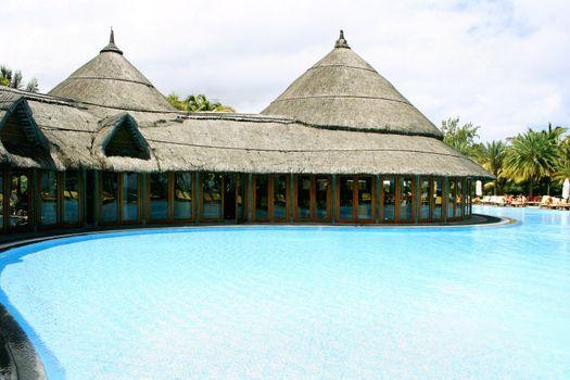 Pool near the villa