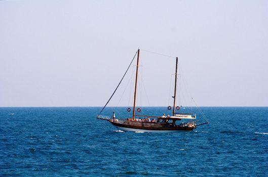 Catamaran in the sea