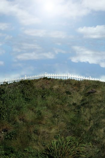 hill top picket fence