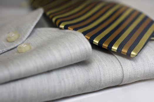 dress shirt and tie. Fabric, moda