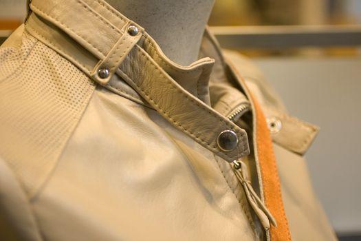 A beige Leather jacket