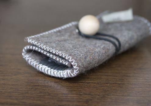 A fashion wool purse