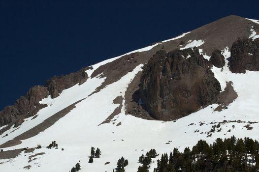 Granite mountain peak  closer