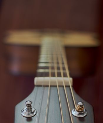 Guitar neck and strings