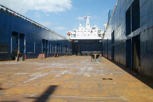 Empty ship