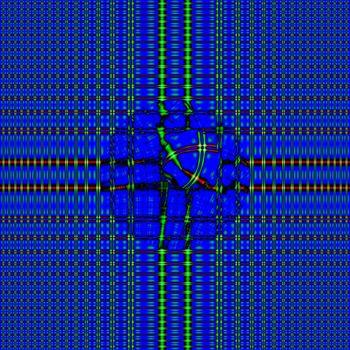 drop on a grid, fractal background