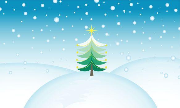 computer illustration of christmas tree