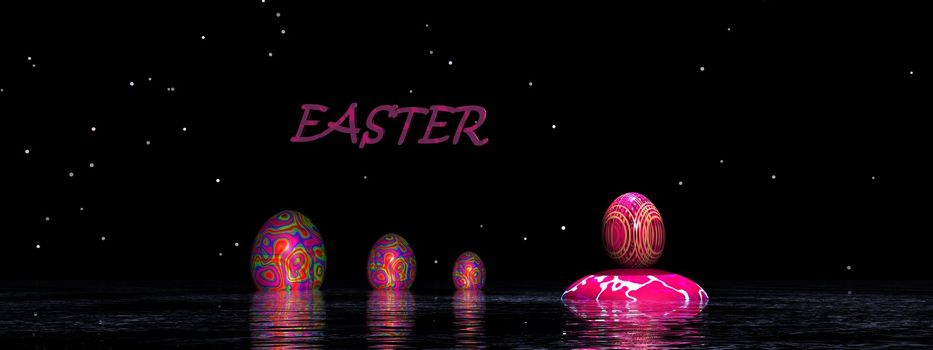 Easter pink and purple