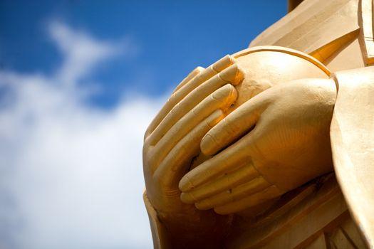 Buddha statue hands