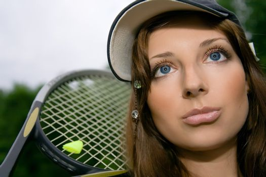 Pretty tennis player