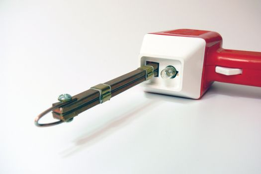 soldering iron red front