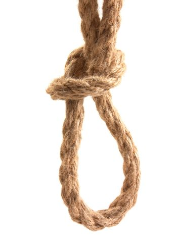 knot tied by a rope