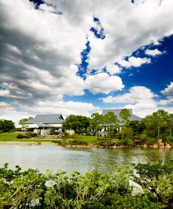 a traditional Japanese garden in Southern Florida