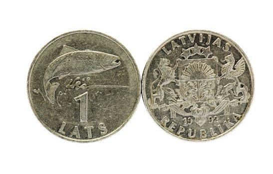 Coin of the Latvian republic