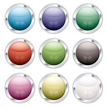 button candid silver
