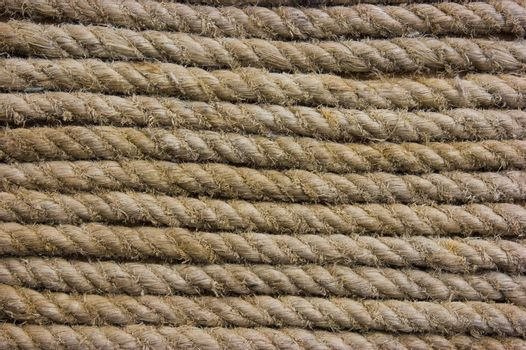 The texture of the old rope