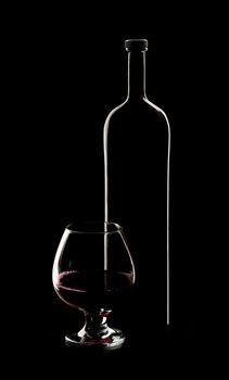 wine in a dark tone