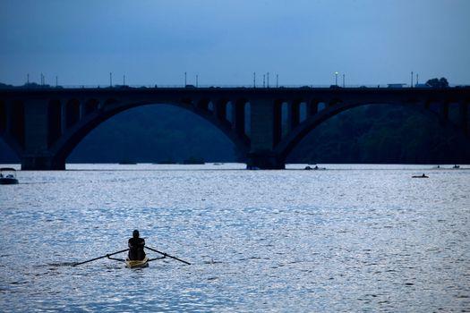 boating in Potomac river, D.C.